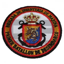 PARCHE BORDADO  INFANTERIA DE MARINA 1 BATALLON