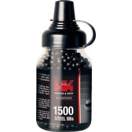 BBs H&K Acero Negras 1500 Uds - 4,5 mm