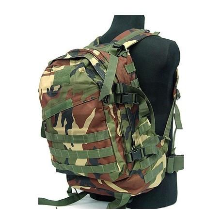 Mochila 3D assault backpack 40L-45L Woodland