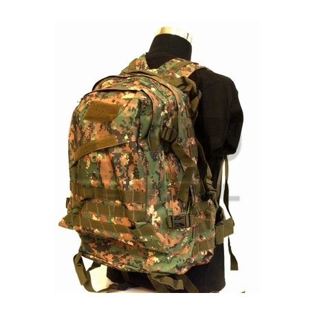 Mochila 3D assault backpack 40L-45L Marpat Woodland