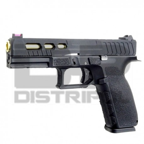 PISTOLA GAS/CO2 METALICA KP13 GOLD CUSTOM