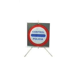 SEÑAL DE TRÁFICO ENROLLABLE, CONTROL POLICÍA