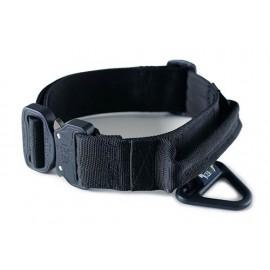 Collar para perro táctico, cierre de seguridad Cobra, anilla V-ring y asa