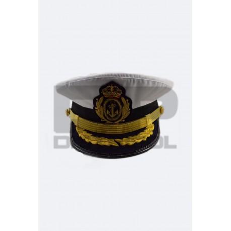 Gorra Cartagenera Oficial Superior Armada con emblema metálico