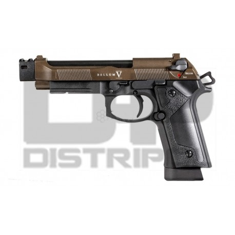 PISTOLA CO2 BLOW BACK BELLUM CUSTOM X BRONZE SECUTOR