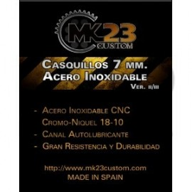 CASQUILLOS 7MM ACERO INOXIDABLE MK23 CUSTOM