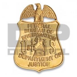 PLACA METÁLICA FBI