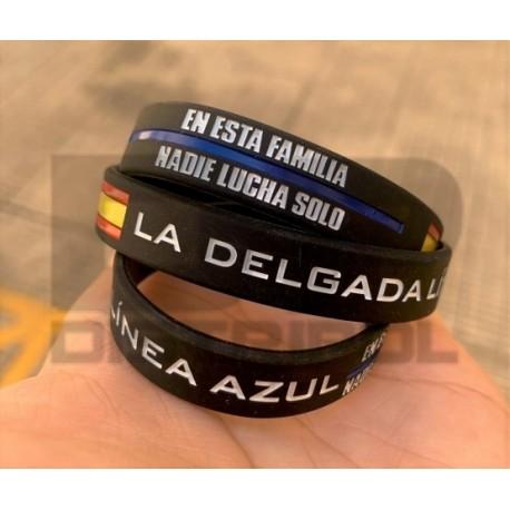 """PULSERA SILICONA """"LA DELGADA LÍNEA AZUL"""""""