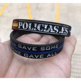 """PULSERA SILICONA """"POLICÍAS.ES"""""""